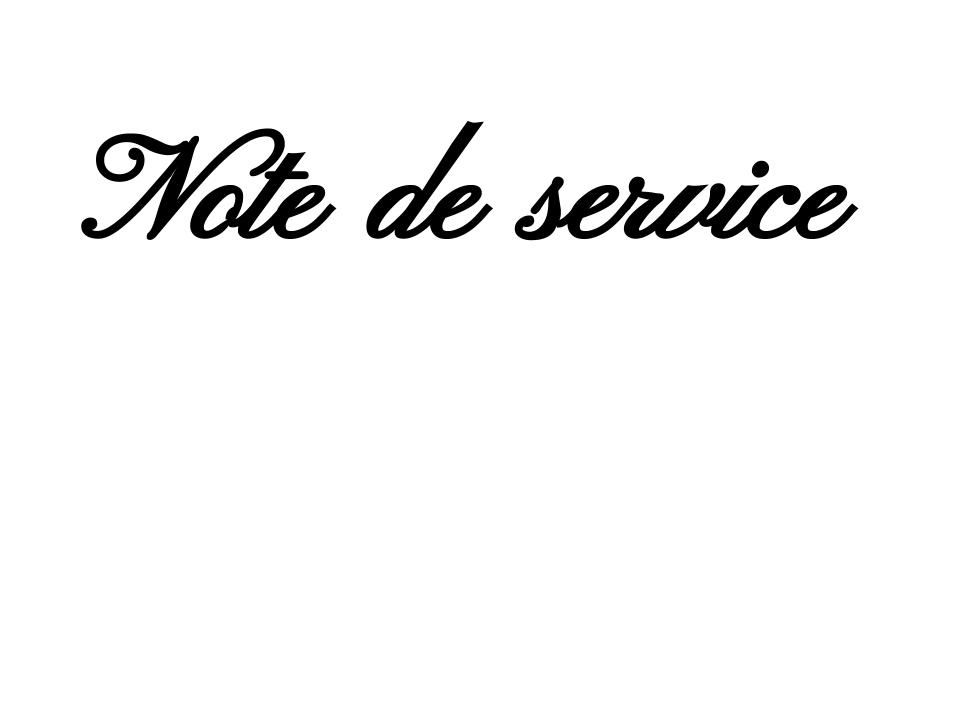 Note de service