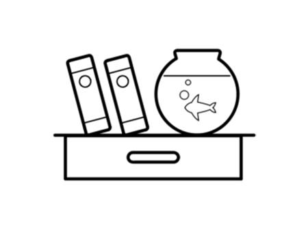 Chambre 1012 — Les dons sur l'étagère